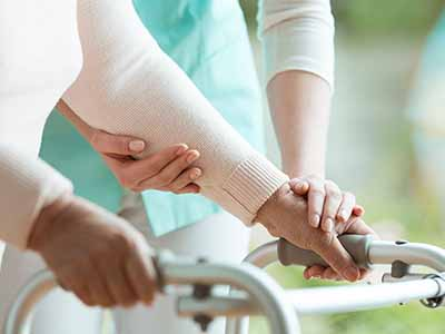 nursing home injuries may happen when an elderly lady holding is disattended by the nurse